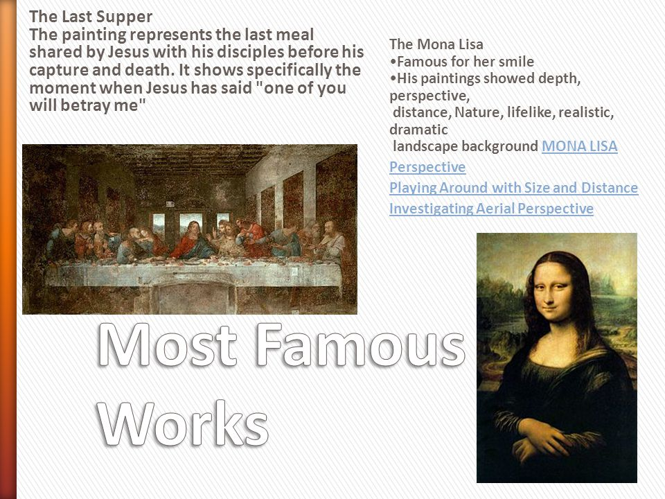 Most Famous Works The Last Supper