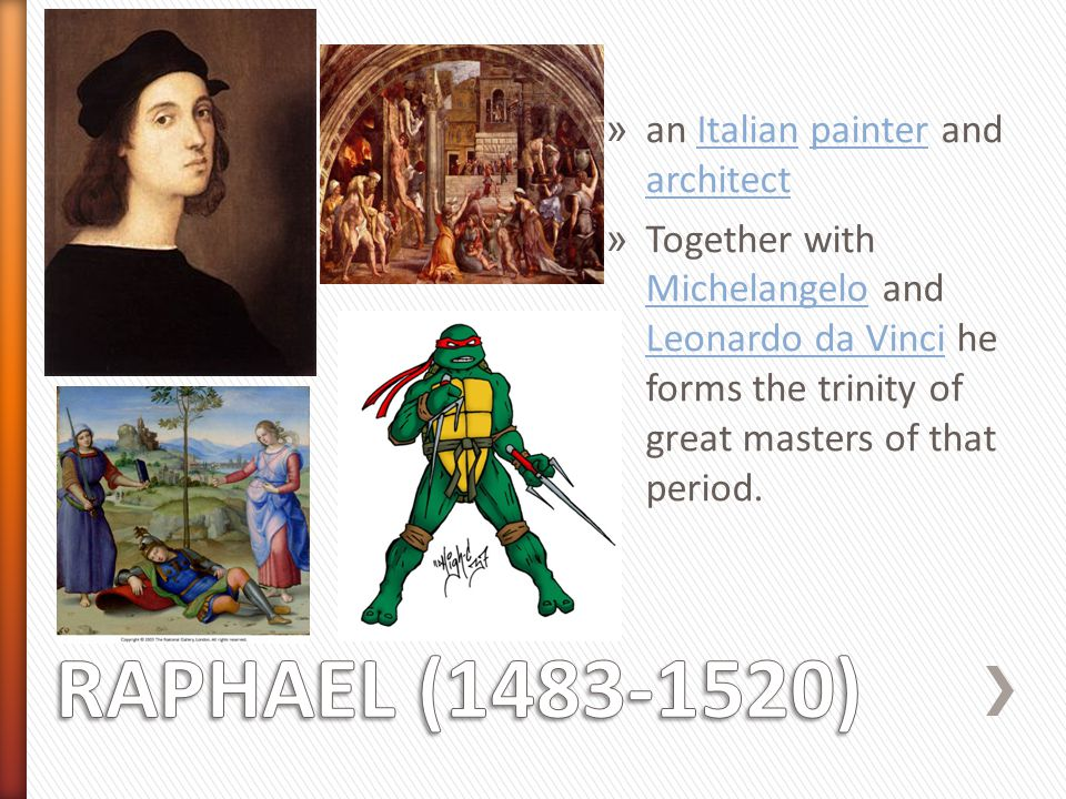 RAPHAEL (1483-1520) an Italian painter and architect