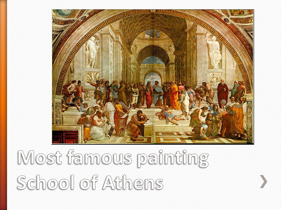 Most famous painting School of Athens