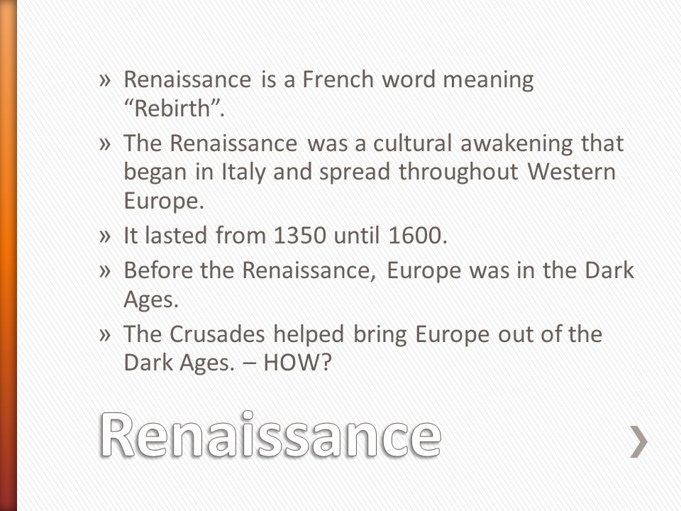 Renaissance Renaissance is a French word meaning Rebirth .