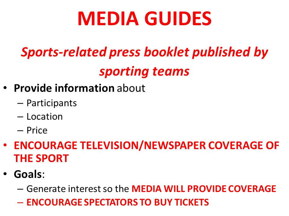 Sports-related press booklet published by