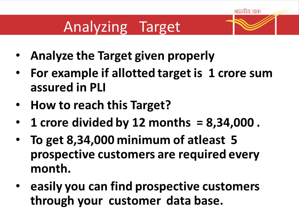 Analyzing Target Analyze the Target given properly