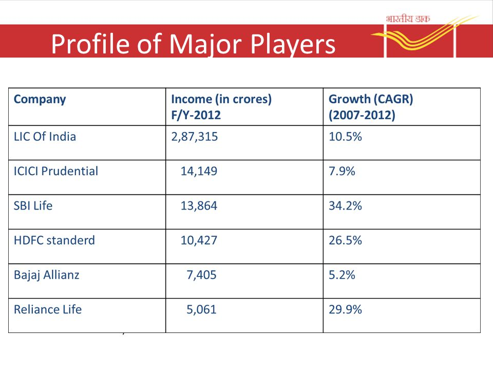 Profile of Major Players