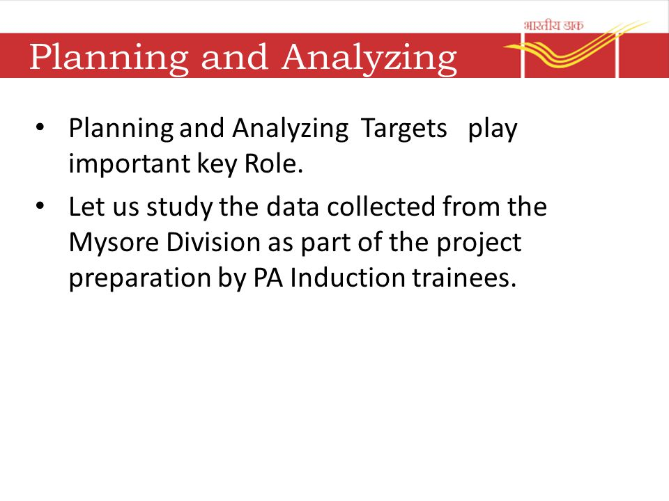 Planning and Analyzing