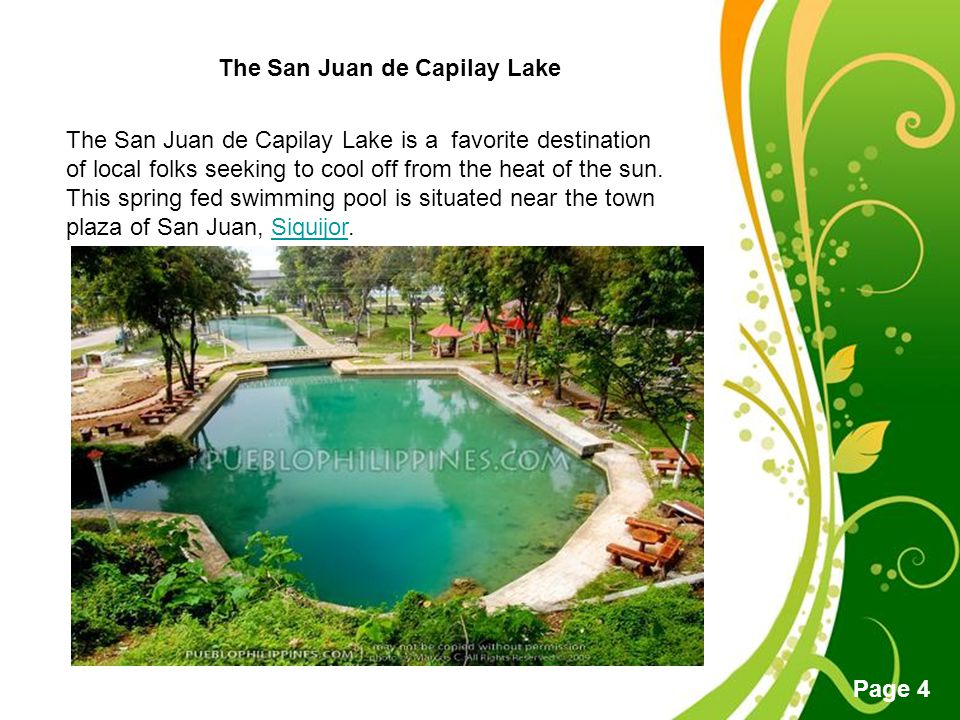 The San Juan de Capilay Lake