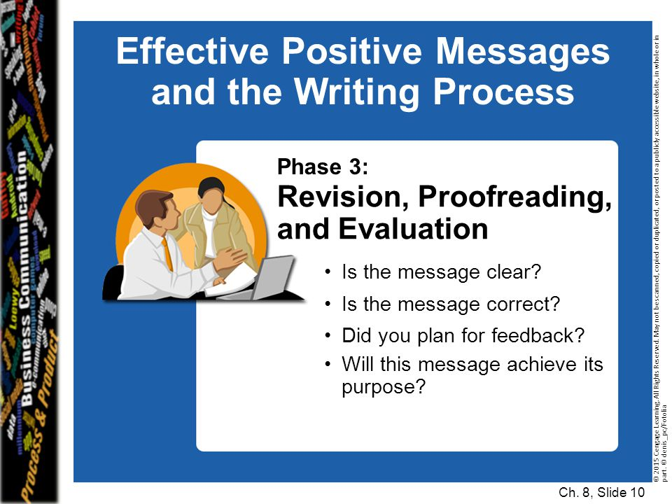 Effective Positive Messages and the Writing Process