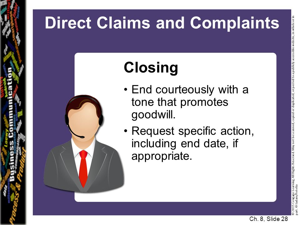Direct Claims and Complaints