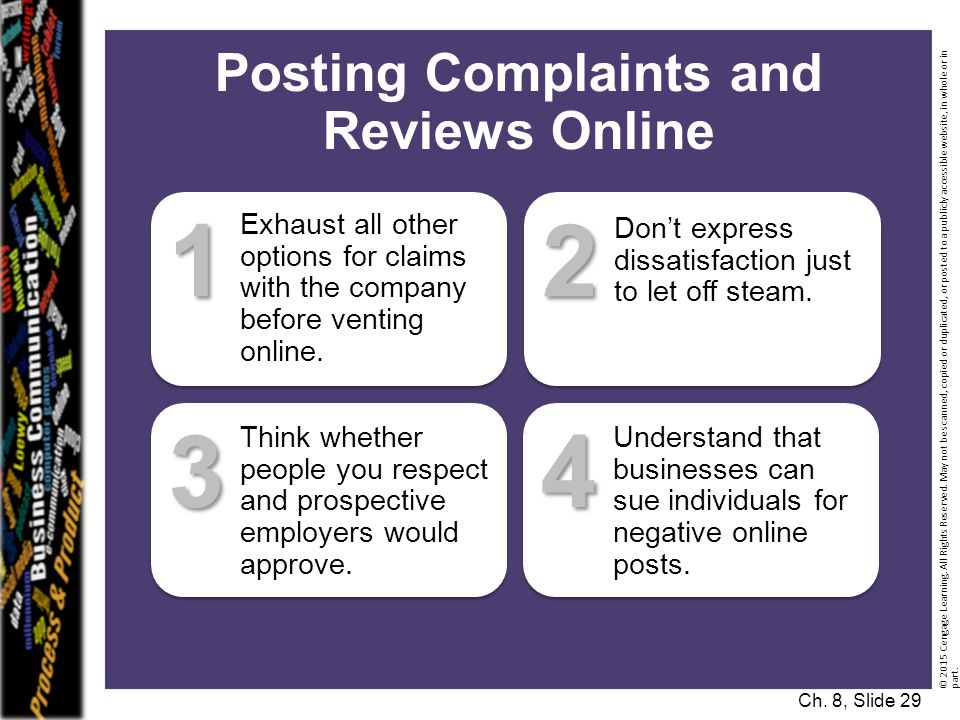 Posting Complaints and Reviews Online