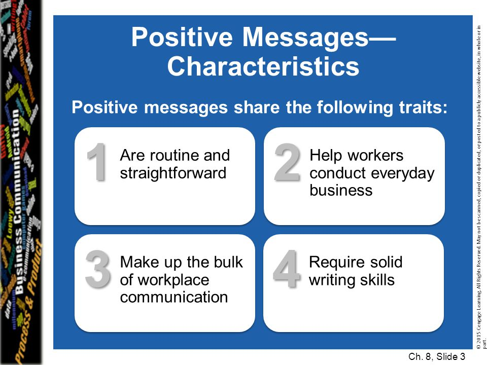 Positive Messages— Characteristics