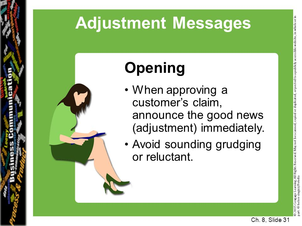 Adjustment Messages Opening