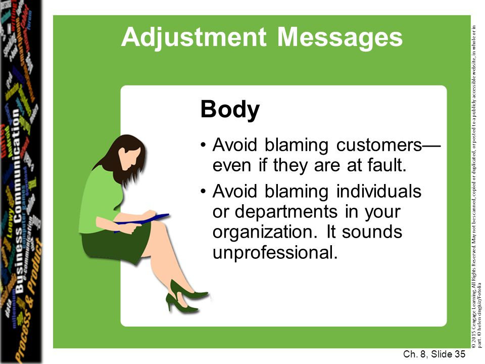 Adjustment Messages Body