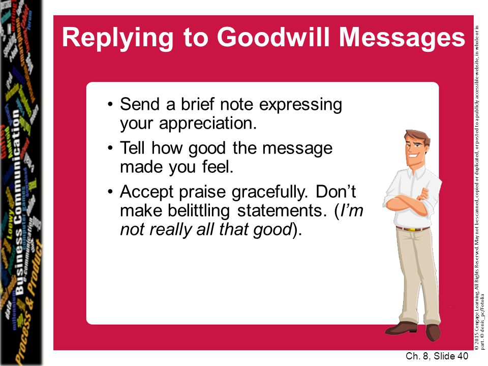 Replying to Goodwill Messages