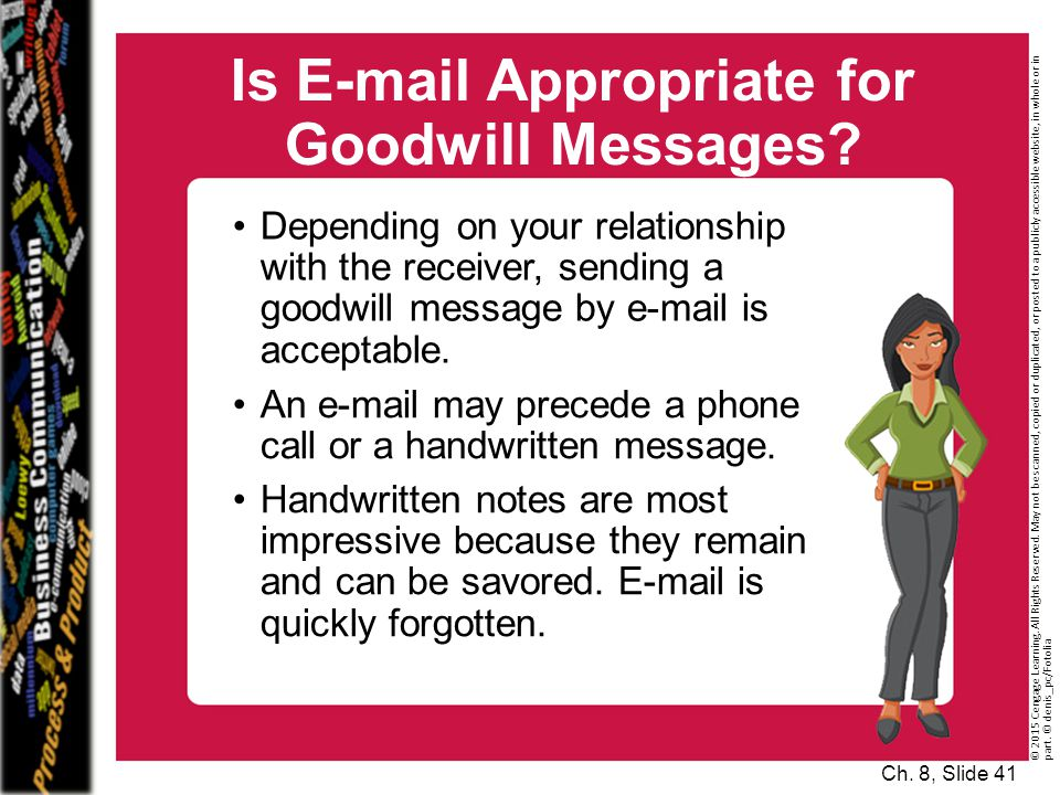 Is E-mail Appropriate for Goodwill Messages