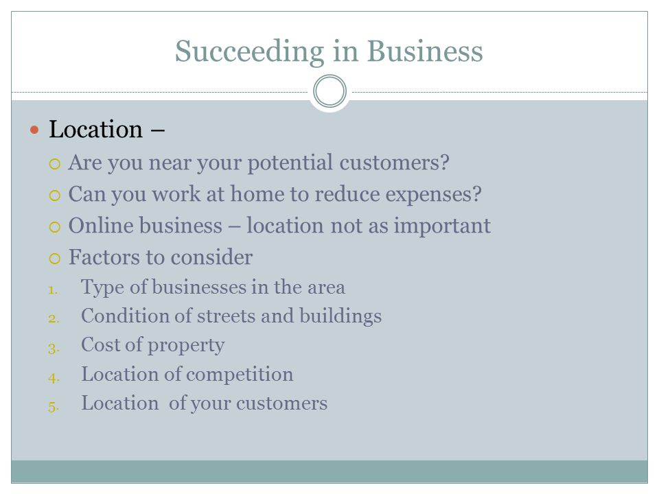 Succeeding in Business