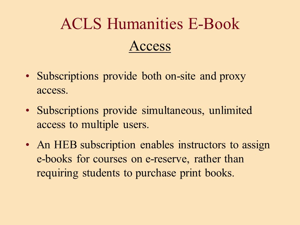 ACLS Humanities E-Book Access