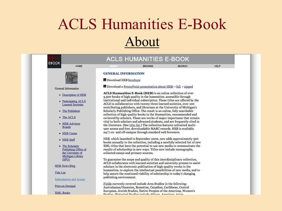 ACLS Humanities E-Book About