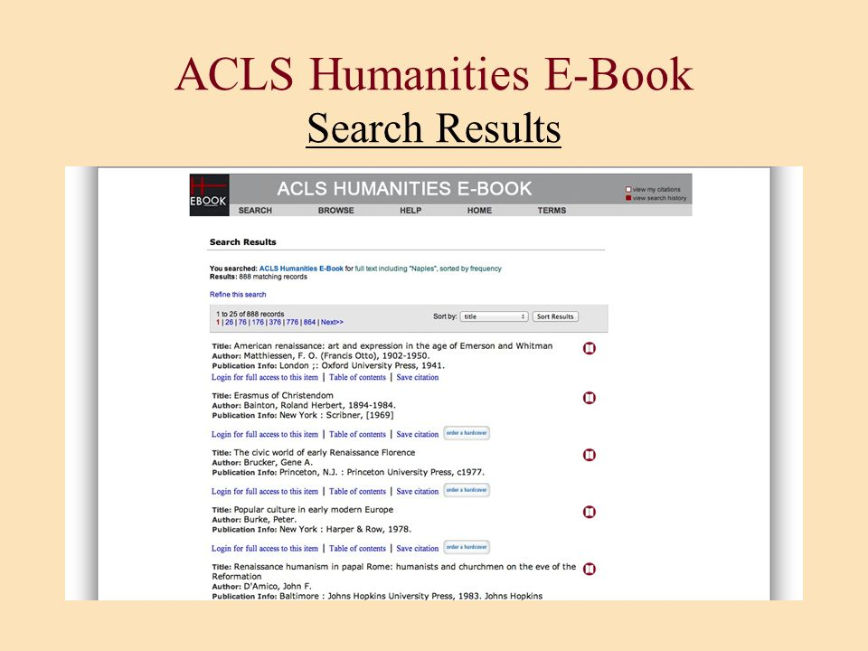ACLS Humanities E-Book Search Results