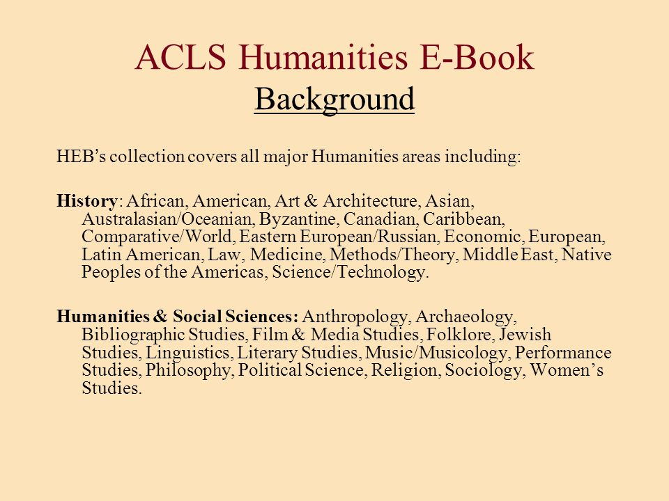 ACLS Humanities E-Book Background