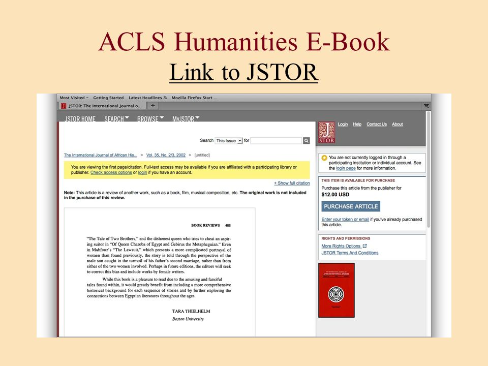 ACLS Humanities E-Book Link to JSTOR