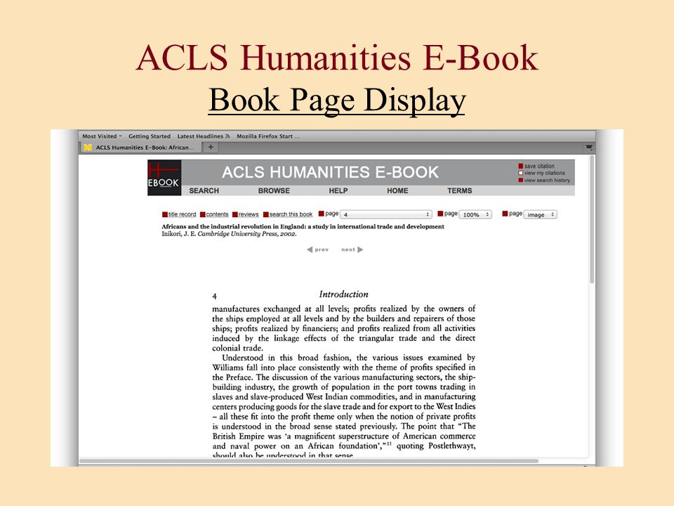 ACLS Humanities E-Book Book Page Display