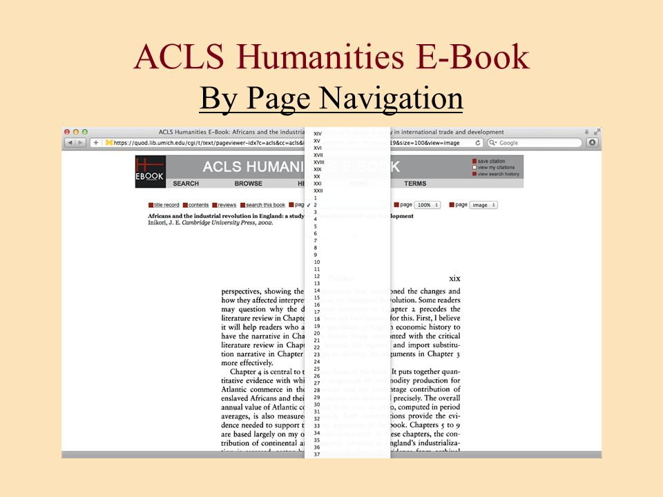 ACLS Humanities E-Book By Page Navigation