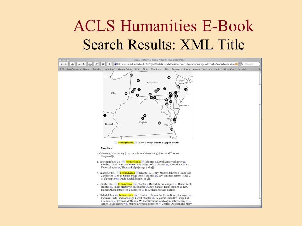 ACLS Humanities E-Book Search Results: XML Title