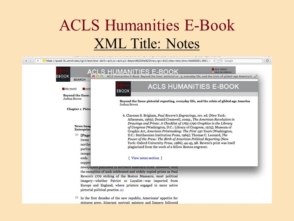 ACLS Humanities E-Book XML Title: Notes