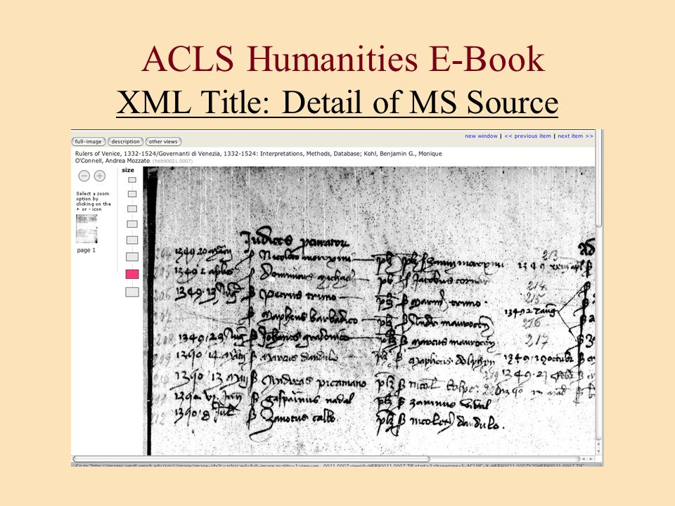ACLS Humanities E-Book XML Title: Detail of MS Source
