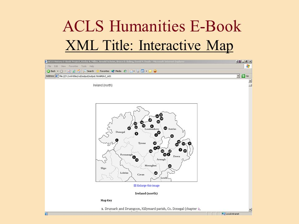 ACLS Humanities E-Book XML Title: Interactive Map