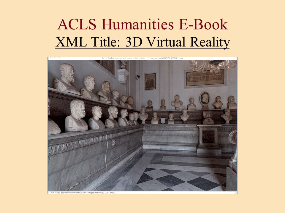 ACLS Humanities E-Book XML Title: 3D Virtual Reality