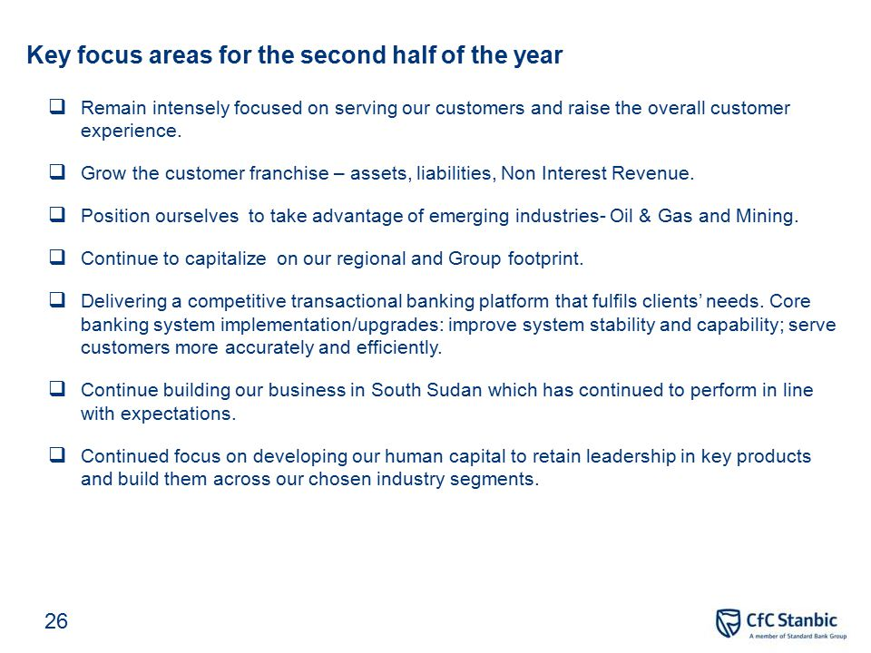 CIB - Income statement and key ratios
