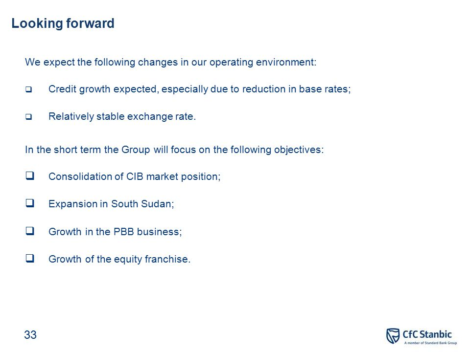 Key focus areas for the second half of the year
