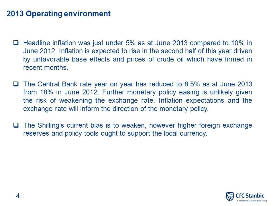 CfC Stanbic Holdings Ltd Financial results