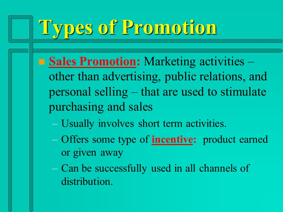 Types of Promotion