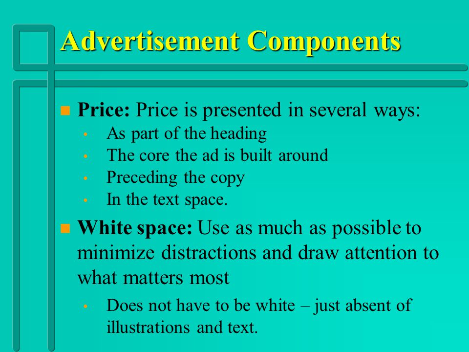 Advertisement Components