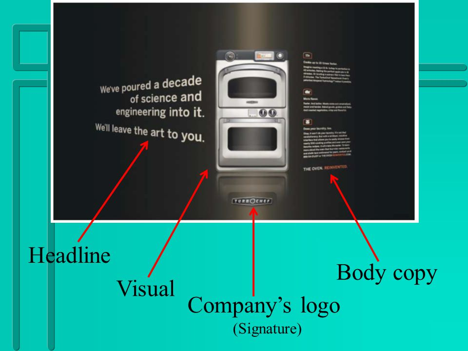 Headline Body copy Visual Company's logo (Signature)