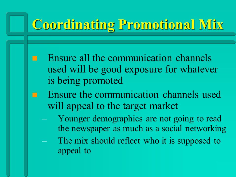 Coordinating Promotional Mix