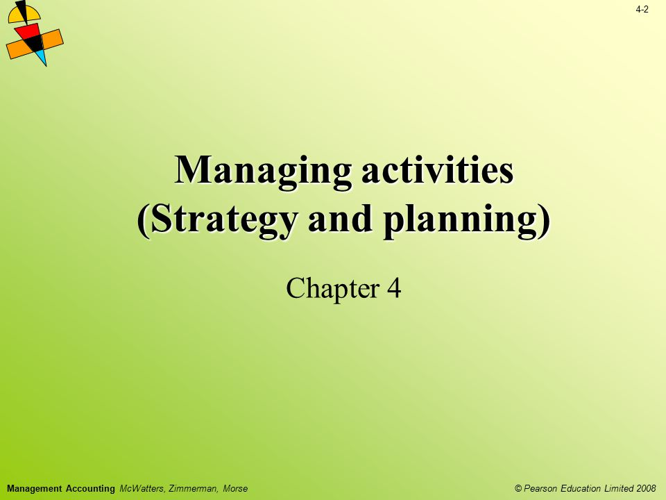 Managing activities (Strategy and planning)