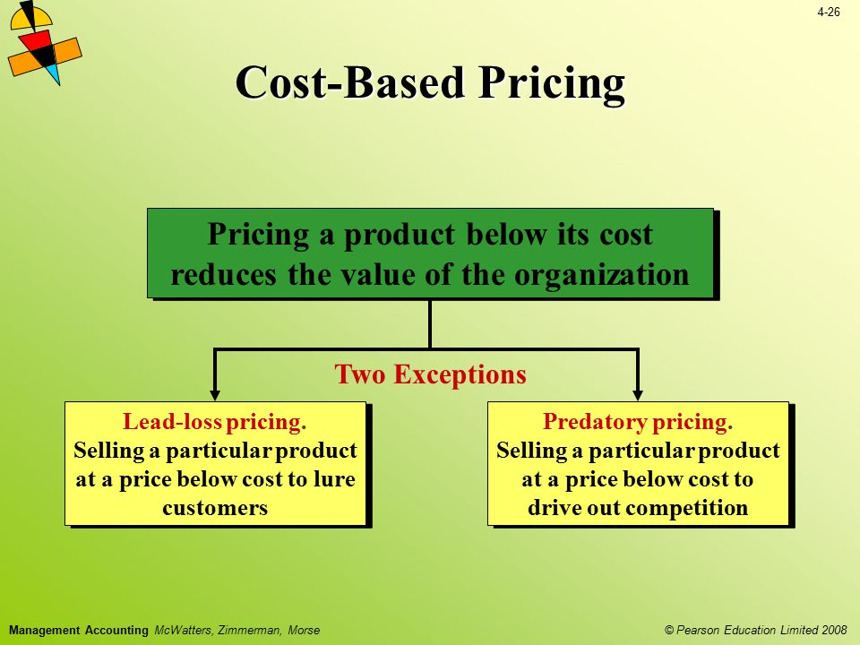Pricing a product below its cost reduces the value of the organization