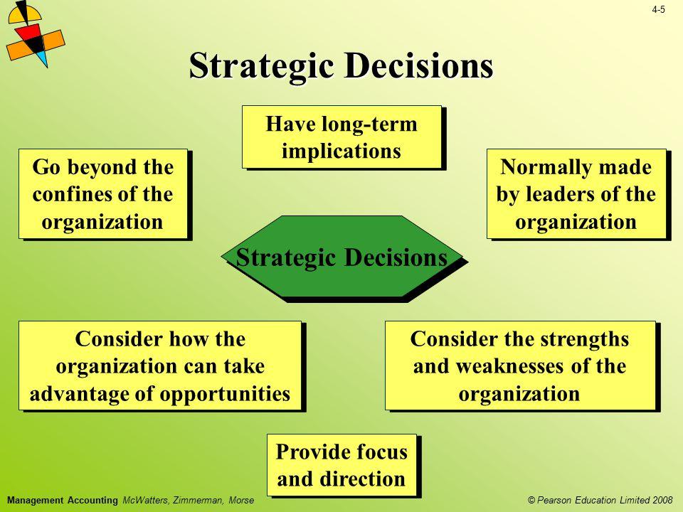 Strategic Decisions Strategic Decisions Have long-term implications