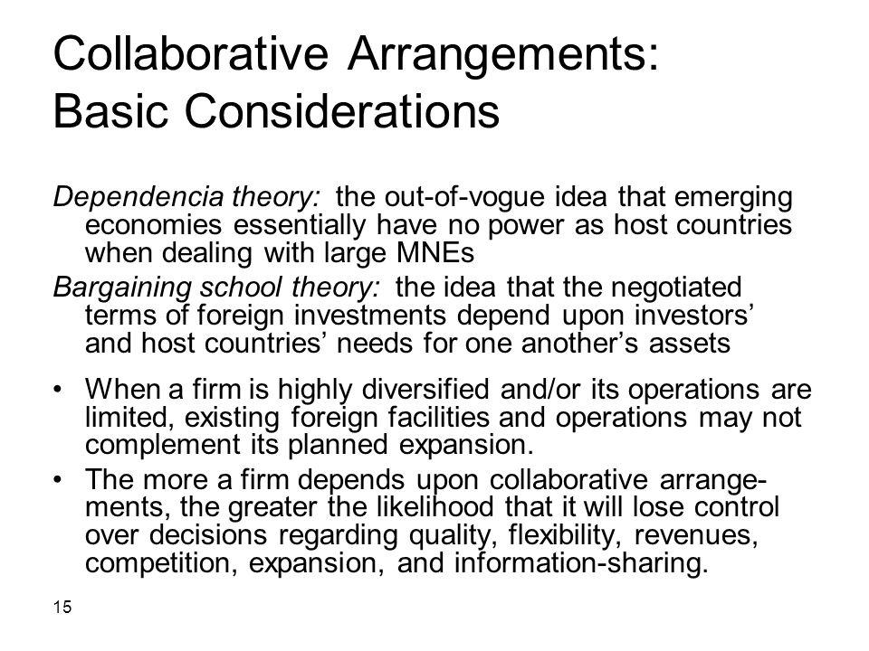 Collaborative Arrangements: Basic Considerations