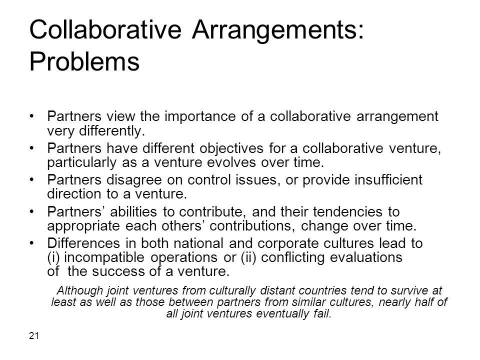 Collaborative Arrangements: Problems