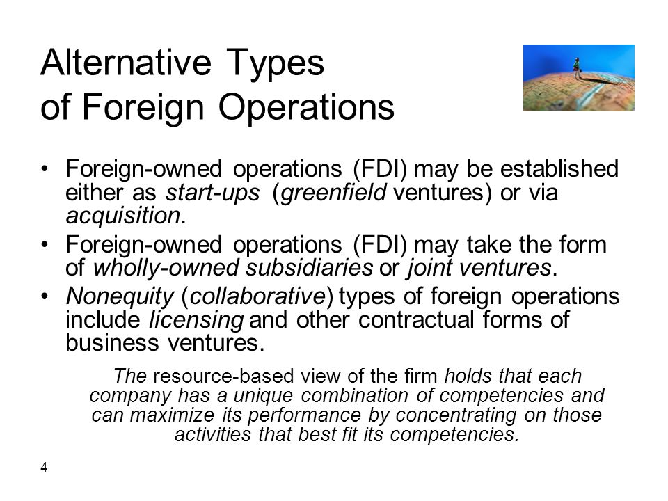 Alternative Types of Foreign Operations