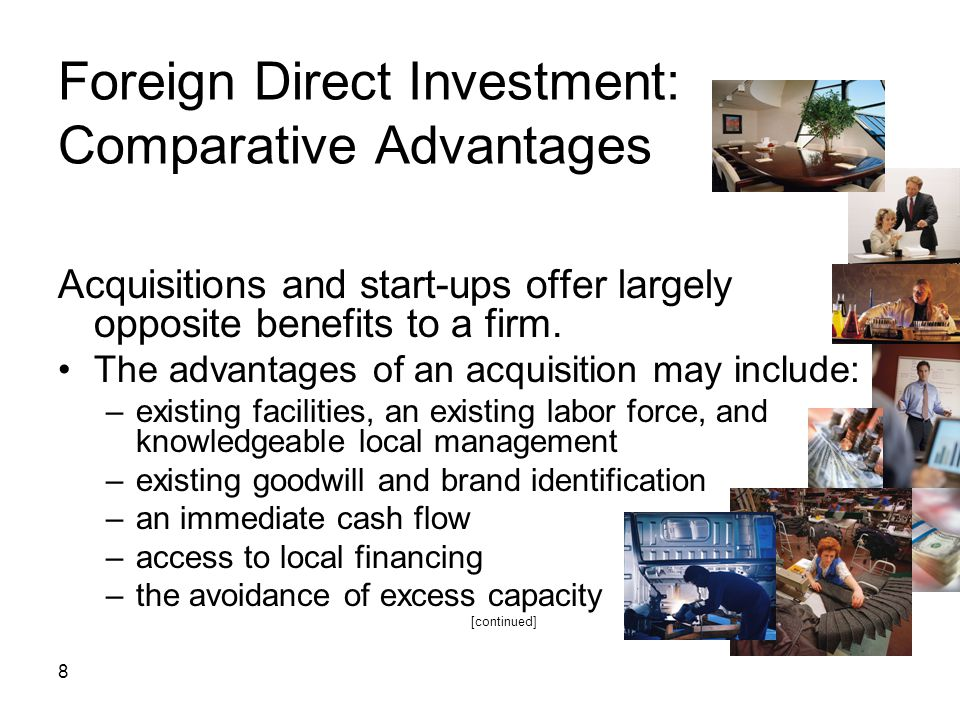 Foreign Direct Investment: Comparative Advantages