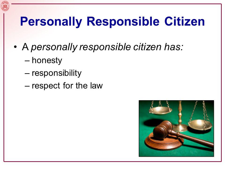 Personally Responsible Citizen