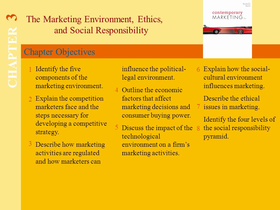 5 components of marketing environment