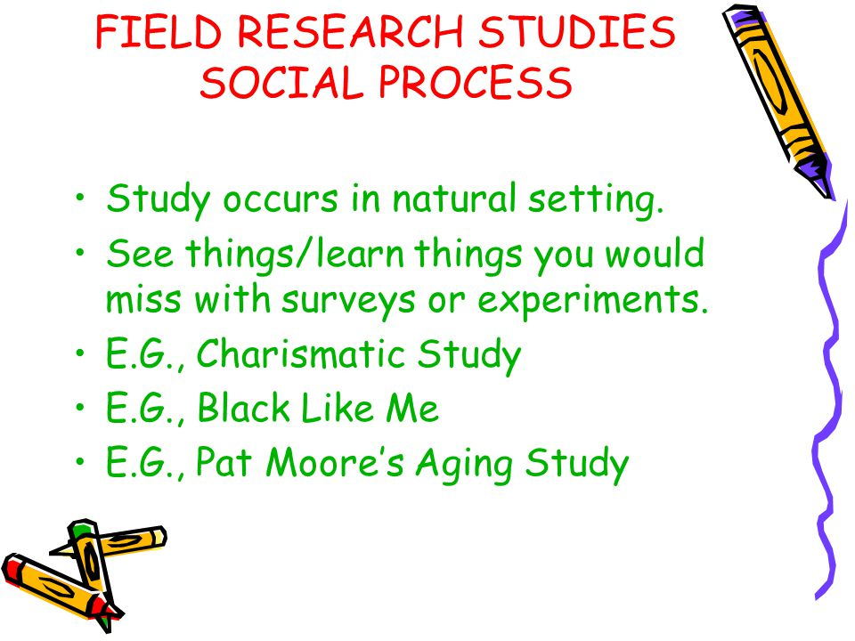 FIELD RESEARCH STUDIES SOCIAL PROCESS