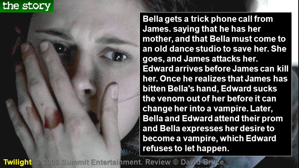 Bella gets a trick phone call from James