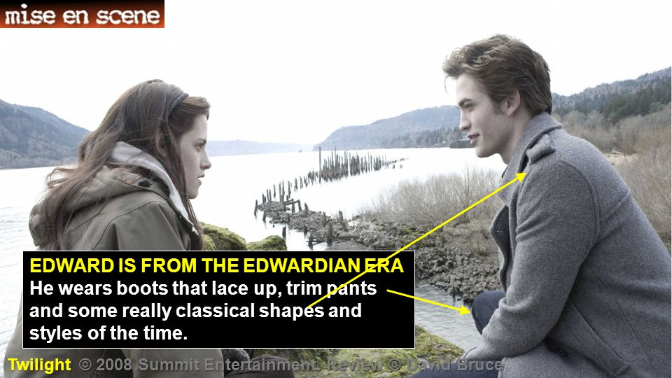 EDWARD IS FROM THE EDWARDIAN ERA He wears boots that lace up, trim pants and some really classical shapes and styles of the time.