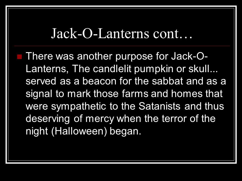 Jack-O-Lanterns cont…